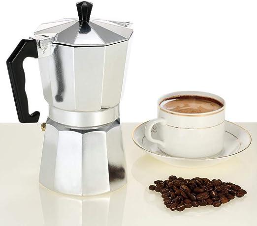 SYSWJ Cafetera Coffee Maker 3Cup/6Cup/9Cup/12Cup Aluminum Espresso ...