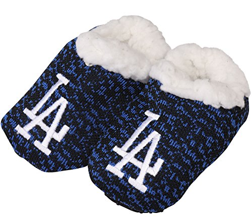 FOCO MLB Infant Knit Baby Bootie Shoe (Los Angeles Dodgers, S (0-3M))