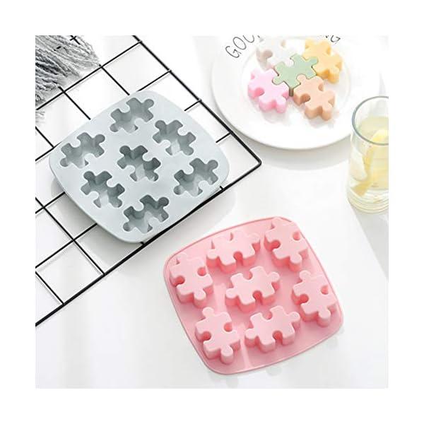 YZBear Confezione da 2 vaschette Ghiaccio in Silicone Lavabile in lavastoviglie Cassaforte per stampi per cubetti di… 2 spesavip