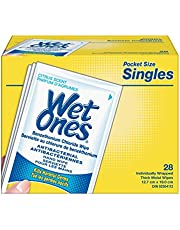 Wet Ones Antibacterial Hand Wipes, Citrus Scent, 28 Individually Wrapped Wet Wipes