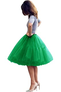 c8f310f039 BEAUTELICATE Women's A Line Princess Tutu Tulle Skirt for Prom Party ...