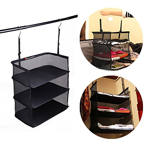travelmall-3-shelf-hanging-closet-for-accessory-and-clothes-storage-mesh-hanging-shelves-black