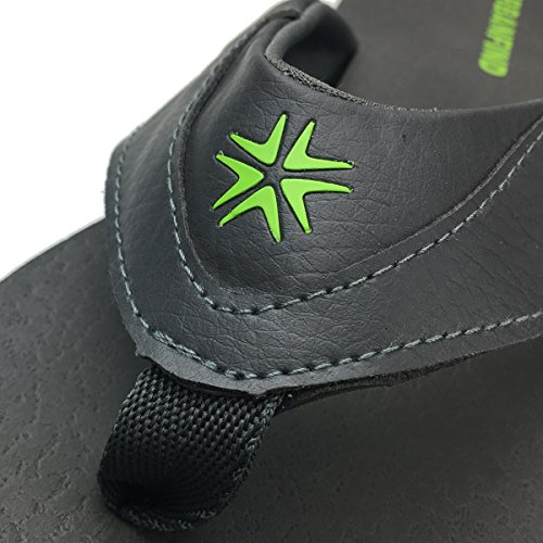 URBANFIND Herren Casual Outdoor & Indoor Flip-Flops Thong Beach Slipper Grauer Stil 2