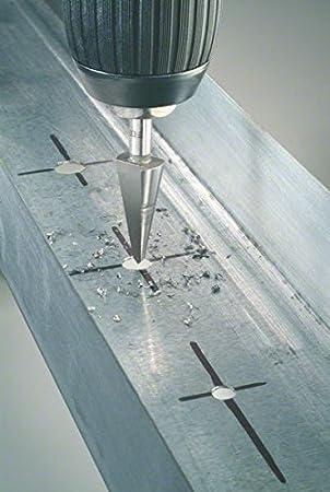 3-14 mm Bosch Professional 2608596668 Sheet Metal Cone Bit of Chrome Vanadium Silver