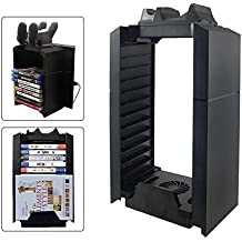 [Patrocinado] YICHUMY Multifunctional Cooling Fan Stand and PS4 Game Storage Tower Holder with Dualshock 4 charger For Playstation 4 Console ps4 cooling stand ps4 game disk holder
