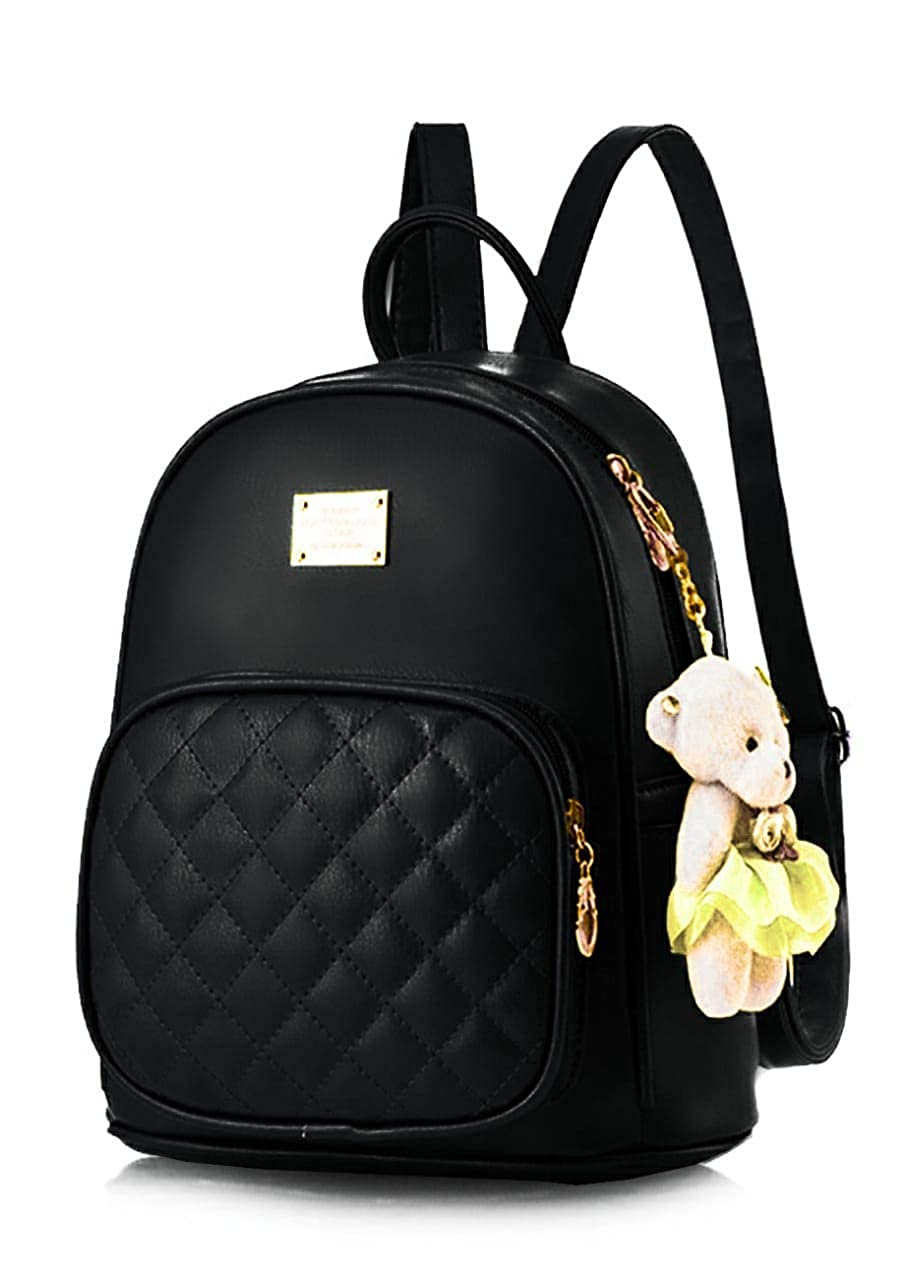 TYPIFY® PU Leather Teddy Keychain Stylish & Trending High-Quality Backpack