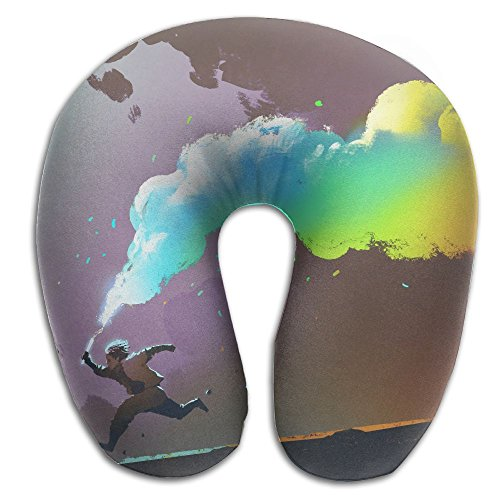 Colorful Smoke Flare U Type Pillow Neck Pillow Super Soft Cervical Pillows Travel Pillows With Resilient Material Gifts For - Flare Smoke