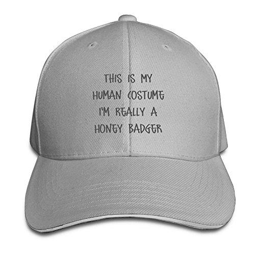 ShengJie This Is My Human Costume I'm Really A Honey Badger Running Unisex Peaked Cap Baseball Hat (Honey Badger Costume Hat)