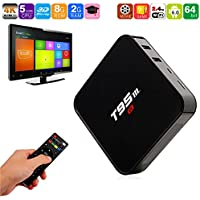 T95M TV Box, Amlogic S905X 2GB+8GB Quad Core 64Bit Android 6.0 Smart 4K HD Media Player Built in 2.4G WiFi HDMI Output Set Top Box