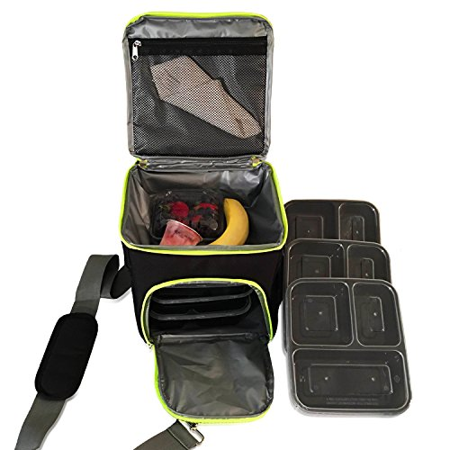 Meal Management Bag System Lunch Bag Isolated 3 meal contain