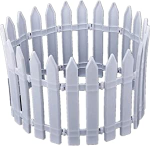 "Christmas Tree Fences White Plastic Picket Fence Miniature Home Garden Xmas Tree Ornament Wedding Party Decoration (22 Pcs - Length 118"")"