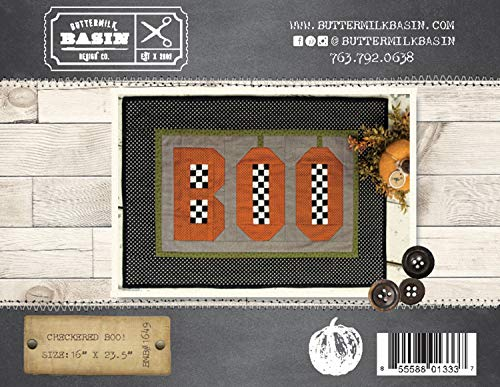 Checkered Boo! Halloween Wall-Hanging Quilt Pattern - by Buttermilk Basin - BMB 1649-16