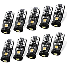 SEALIGHT 194 LED Bulb Interior Car Lights, 168 2825 W5W T10 Extremely Bright 3030 Chipset, Non-polarity, for License Plate Dome Map Door Courtesy Park Lights 12V 6000K Cool White (10 Pack)
