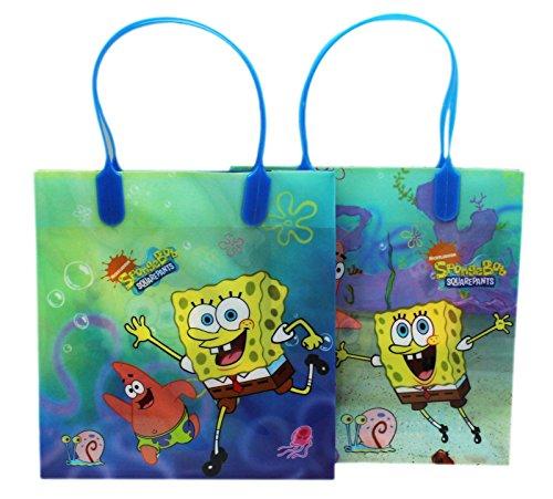 Small Blue Spongebob Squarepants and Patrick Gift Bag Set (2 Piece)]()