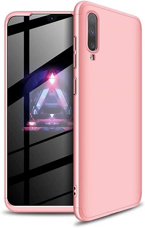 Funda Samsung Galaxy J4 Plus Ttimao PC Hard Case [Protector de Pantalla de Vidrio Temperado] Anti-Shock Ultrafino 360 ° Caja Protección Tres en Uno Cubierta Protectora (Oro Rosa): Amazon.es: Electrónica
