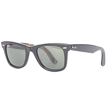 1f142412114 Ray-Ban Sunglasses - RB2140 Wayfarer   Frame  Top Black   Guitar Print  Lens  Green (50mm)  Amazon.ca  Sports   Outdoors
