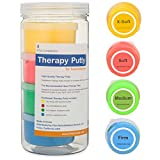Premium Quality Therapy Putty for Hand Exercise Four (3oz) Variable Resistance Containers for Rehab Therapy and Stress Relief by FlintRehab