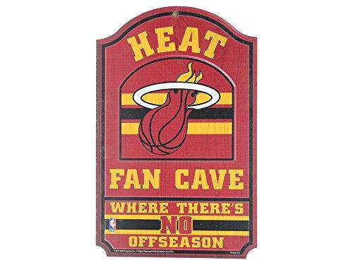 WinCraft NBA Miami Heat 33185012 Wood Sign, 11'' x 17'', Black by WinCraft