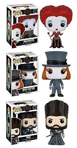 Alice Looking Glass  Mad Hatter+Iracebeth+Time - Vinyl Figure Set NEW   Amazon.es  Juguetes y juegos 4c02097b97a