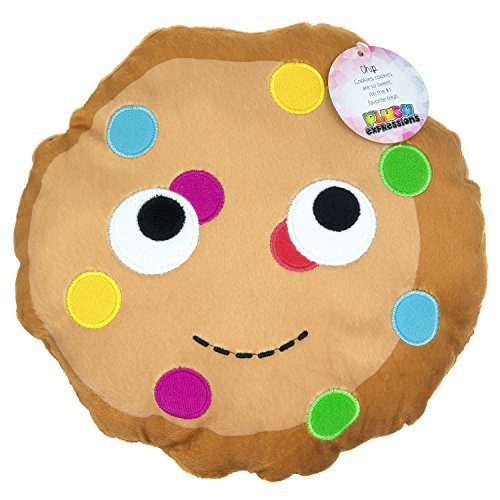 Emoji Expressions Plush Food Pillow Soft & Cute For children, 6 Assorted Designs