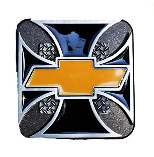 - Valley Receiver Hitch Cover - Chevy Bowtie Iron Cross Design
