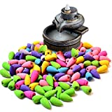 Dragon Incense Burner Cone Incense - Mixed 70Pcs/Lot Natural Incense Rose Jasmine Lavender Osmanthus Sakura Smoke Cones Reflux Tower incense Backflow incense Bullet -Incense Cone Burner