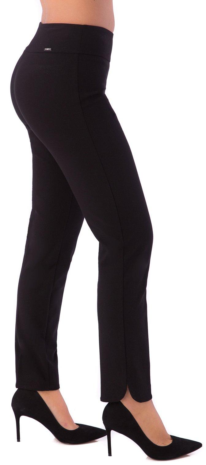 UP Womens Slim Ankle Pants Flatten and Flatter Style 65790 Cavalli Twill Petal Slit Size 12 Black
