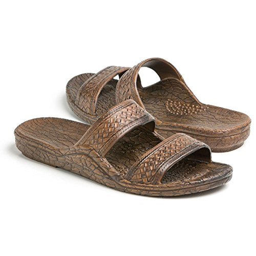 (Pali Hawaii Unisex Adult Classic Jandal Sandal (Dark Brown, 8))