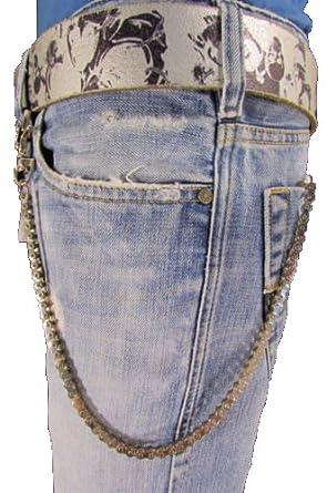 Amazon.com: tfj Hombres cartera Cadena Biker Jeans Llavero ...