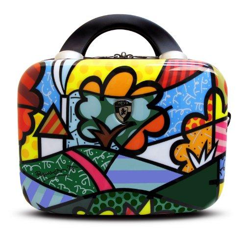 Heys USA Luggage Britto Flowers Hard Side Beauty Case, Multi-Colored, One Size - Usa Flowers Heys