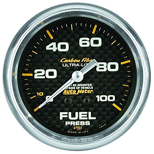 Carbon Fiber Fuel Gauge (Auto Meter 4811 Carbon Fiber Mechanical Fuel Pressure)