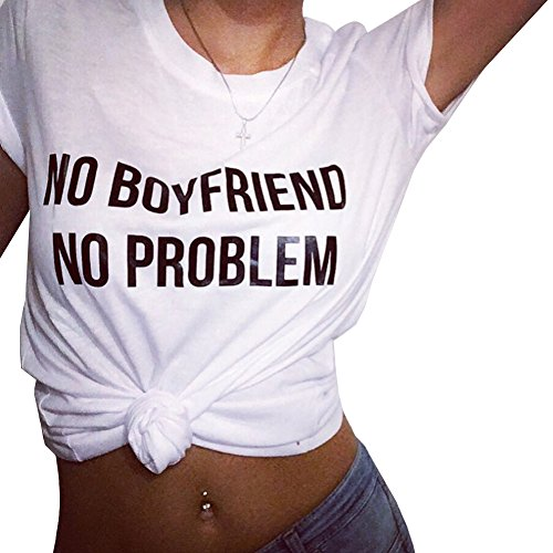 YITAN Womens Summer Printting Cotton Short Sleeve Tops Graphic Tees Fashion Cute Funny T Shirts