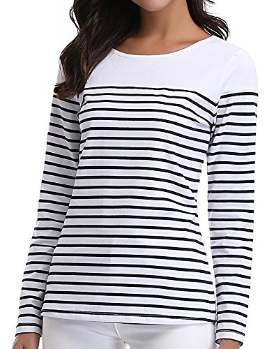 18 Misses Tops (MISS MOLY Women's Round Neck Striped Tee T-Shirt Tops,XL …)