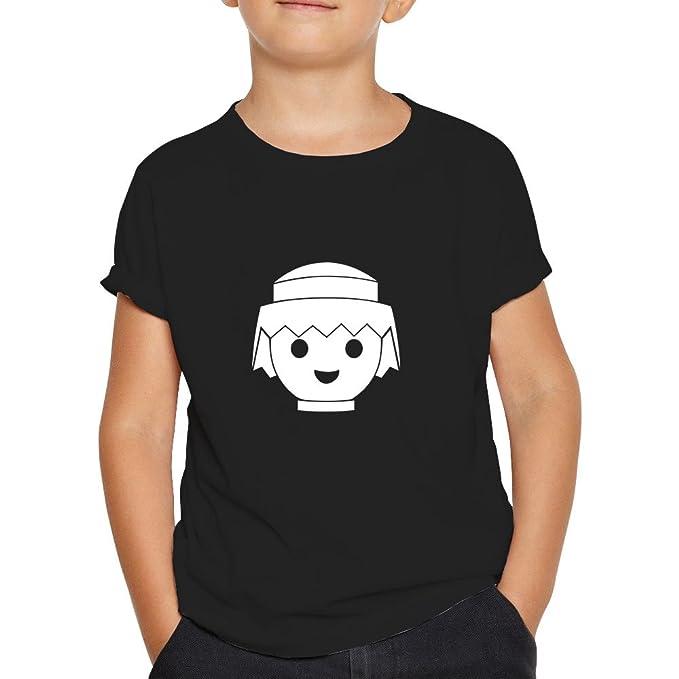 OKAPY Camiseta Playmobil. Una Camiseta de Hombre para los Fans de los playmobil. Camiseta Friki de Color Negra WM4FDQ1