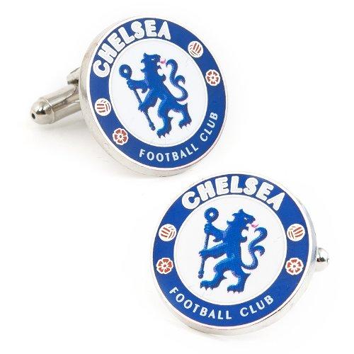 Soccer Mens Plated Chelsea FC Cufflinks Blue