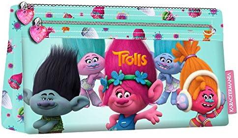 TROLLS Estuche portatodo Plano, Color Turquesa, 22 cm (Karactermanía 94234): Amazon.es: Juguetes y juegos