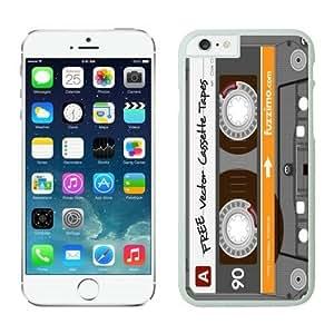 iphone 6 plus Case 5.5 Inches, Audio Cassette Coolest Design White Hard Phone Cover Case for Apple iphone 6 plus