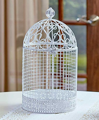 Cage Scrollwork (Oversized Vintage Jeweled Cage, White)