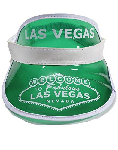 [GREEN Las Vegas Poker Dealer Bingo Plastic Clear Visor Hat Fear & Loathing] (Fear In Loathing In Las Vegas Costume)