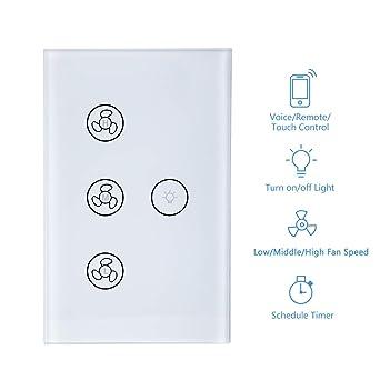 New Upgraded Smart Switch for Light and Fan, Smart WiFi Light Fan ...