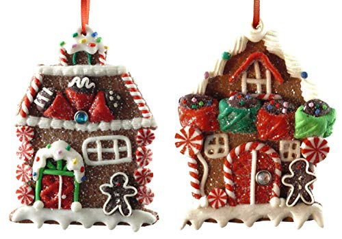 Gerson Gingerbread House with Candy & Icing Holiday Ornaments - Set of ()