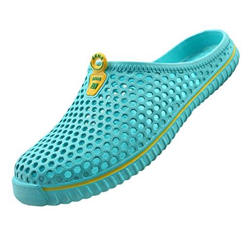 Lewhosy Unisex Women's Men's Garden Clog Shoes Sandals Slippers(44/Light Blue)