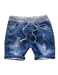 MMWORM Baby Short Jeans Pants Boy Jeans Casual Denim Short Trousers Ripped Jeans Boy