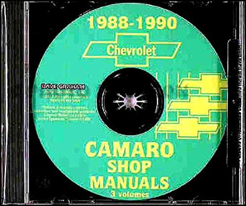 1988 1989 1990 CHEVROLET CAMARO FACTORY REPAIR SHOP & SERVICE MANUAL Standard Camaro Coupe RS Convertible IROC-Z