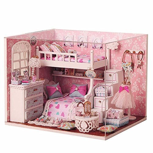 Miniature Cuteroom Wood Kit With Furniture Doll House Room Angel Dream DIY Dollhouse Accessories (Annabelle Doll For Sale)