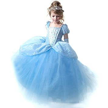 6646583050184 KAabkl シンデレラ風 ドレス 子供 コスチューム 子供服 ロングドレス お姫様 ワンピース ディズニープリンセス キッズコスチューム