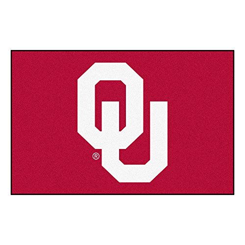 FANMATS NCAA University of Oklahoma Sooners Nylon Face Starter Rug