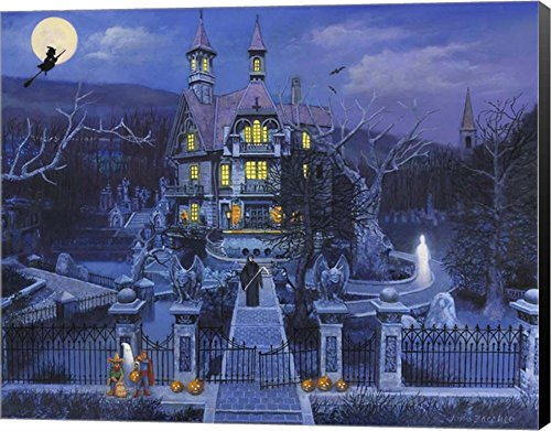 Haunted House by John Zaccheo Canvas Art Wall Picture, Museum