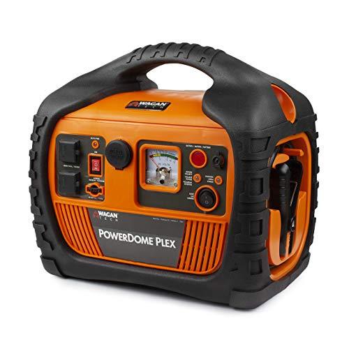 - Wagan EL7561 Orange Dome PLEX Battery Portable 1000 Amps Jump Starter Air Compressor 800W Peak Surge Power Inverter (Renewed)