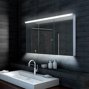 Lux Aqua Design Badezimmer Spiegelschrank Mit LED Beleuchtung 120 X 70 Cm    LMC12070